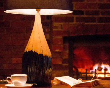 Naturally Aged Hornbeam Pencil Table Lamp