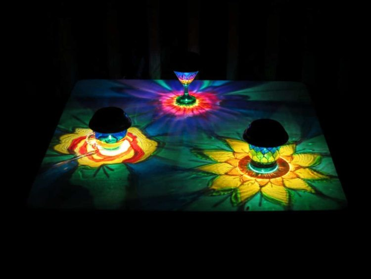Solar Flower Punch Cup - outdoor-lighting