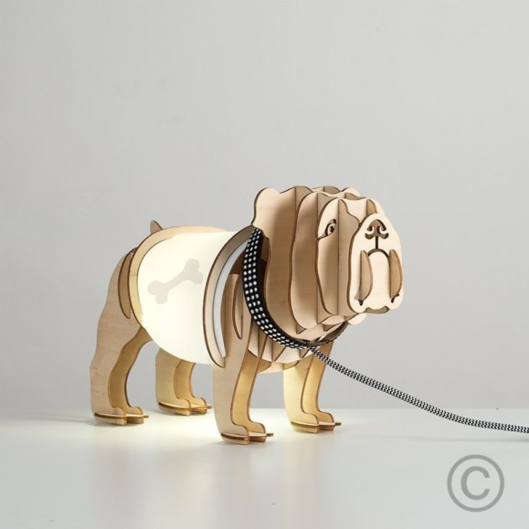 Cute Bulldog Table Lamp - table-lamps