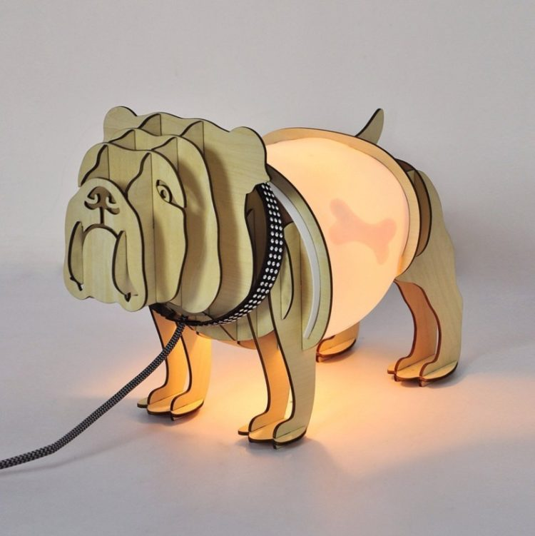 Cute Bulldog Table Lamp Table Lamps
