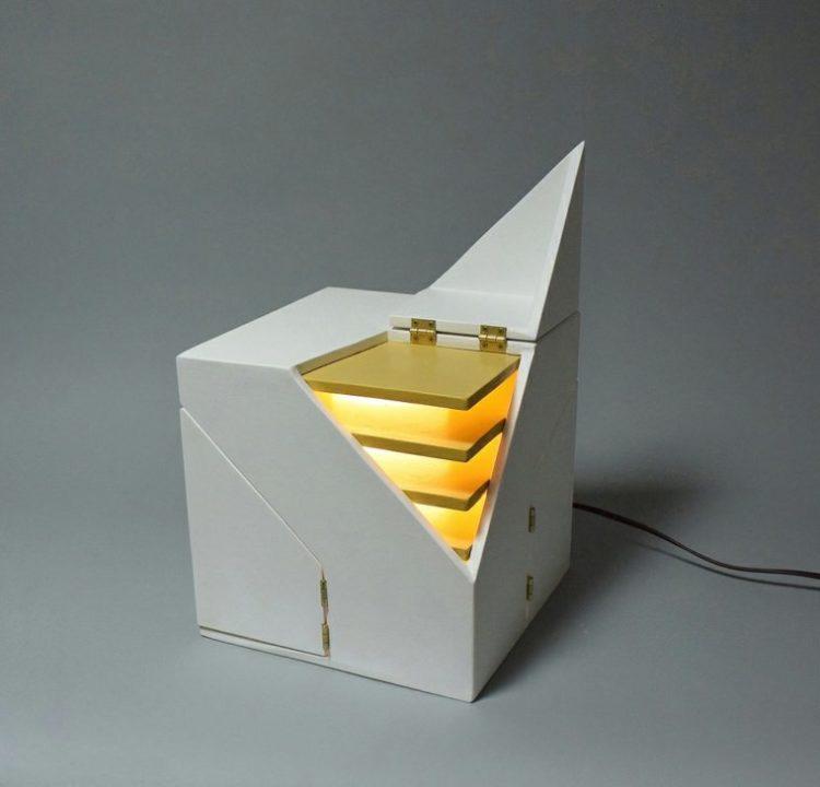 Folding Design Table Lamp by Michael Jantzen