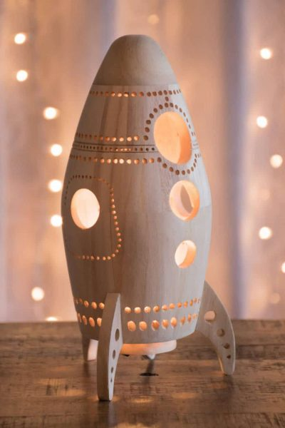Hand-Drilled Wooden Night Lights