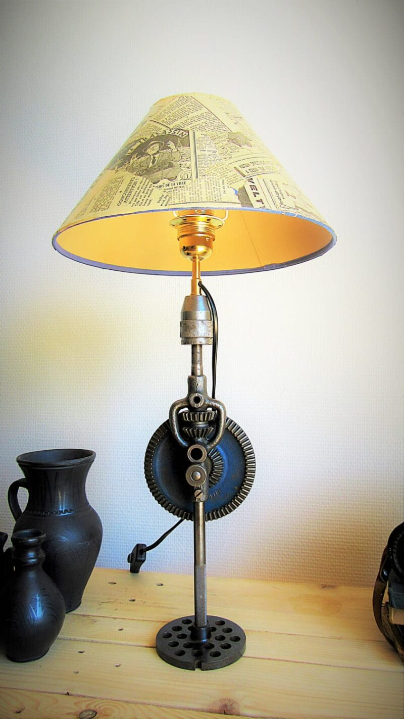 Lumimeca Recycled Steampunk Table Lamp