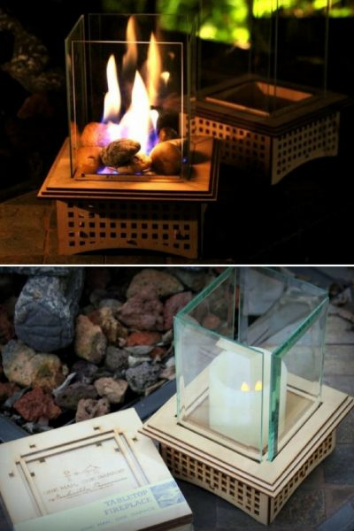 Mini Outdoor Fireplace Kits Tabletop Glass