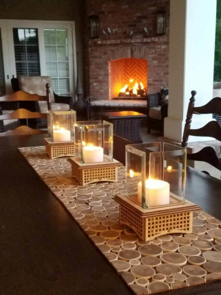 Mini Outdoor Fireplace Kits Tabletop Glass - iD Lights