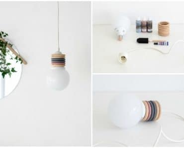 Recycle Curtain Rings Into A Design Pendant Lamp
