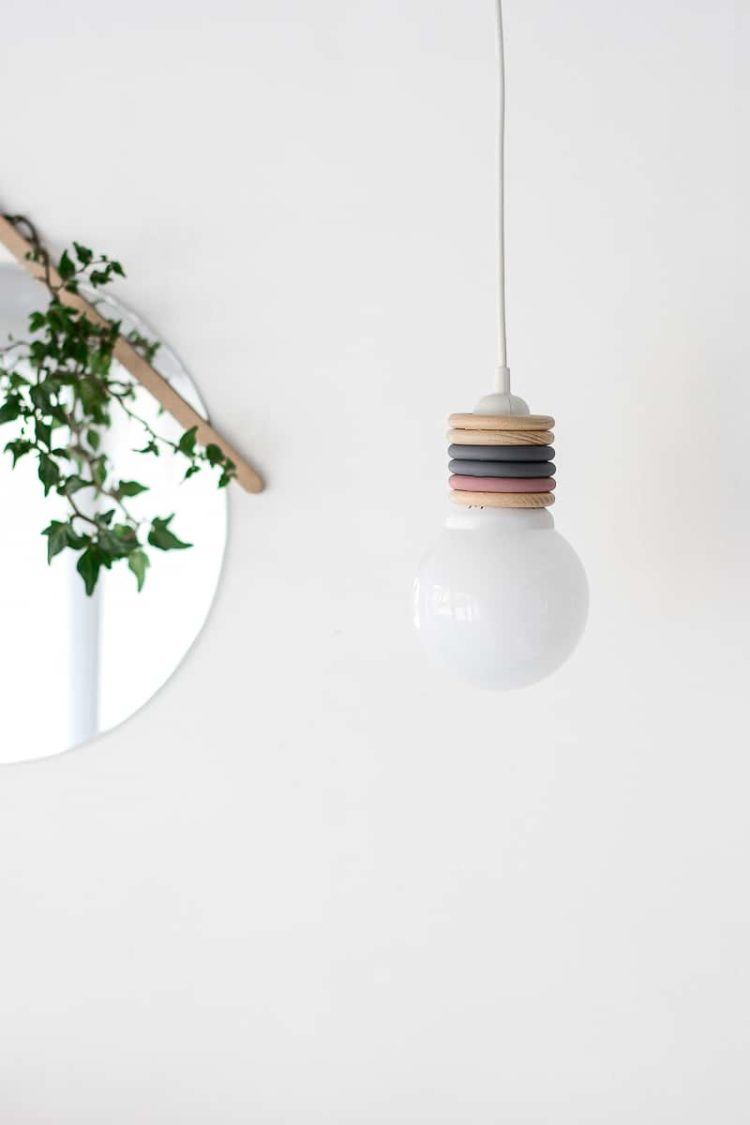 How to Make Recycle a Design Pendant Lamp with Curtain Rings - pendant-lighting