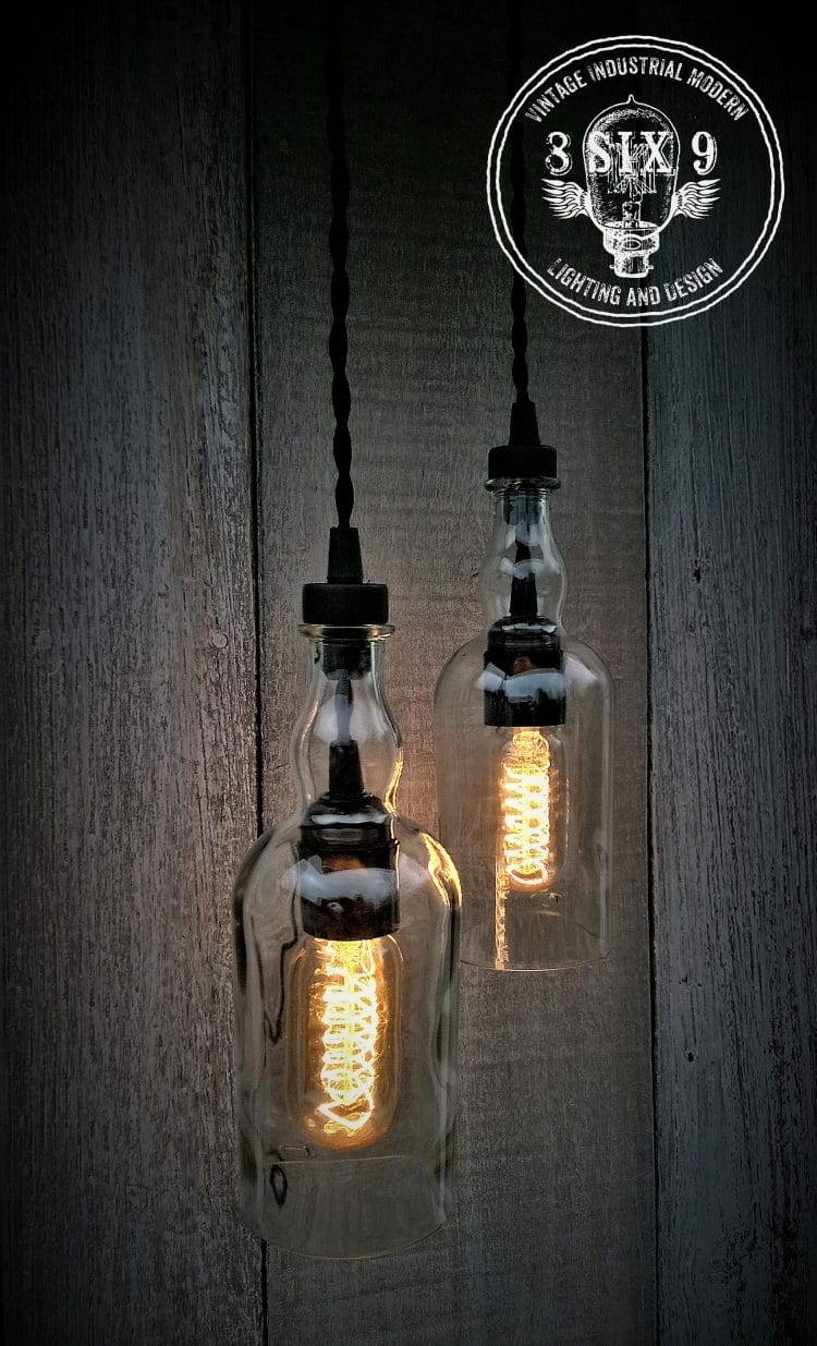 Balvenie Whiskey Bottle Pendant Light Black Series 1 - Pendant Lighting - iD Lights