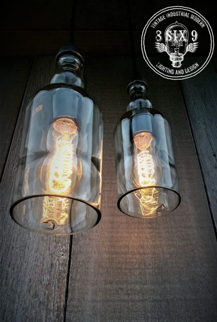 Balvenie Whiskey Bottle Pendant Light Black Series 2 - Pendant Lighting - iD Lights