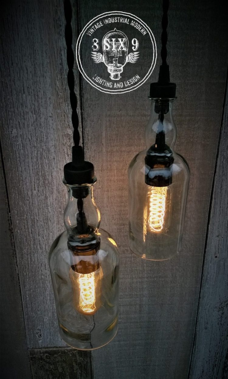 Balvenie Whiskey Bottle Pendant Light Black Series - pendant-lighting