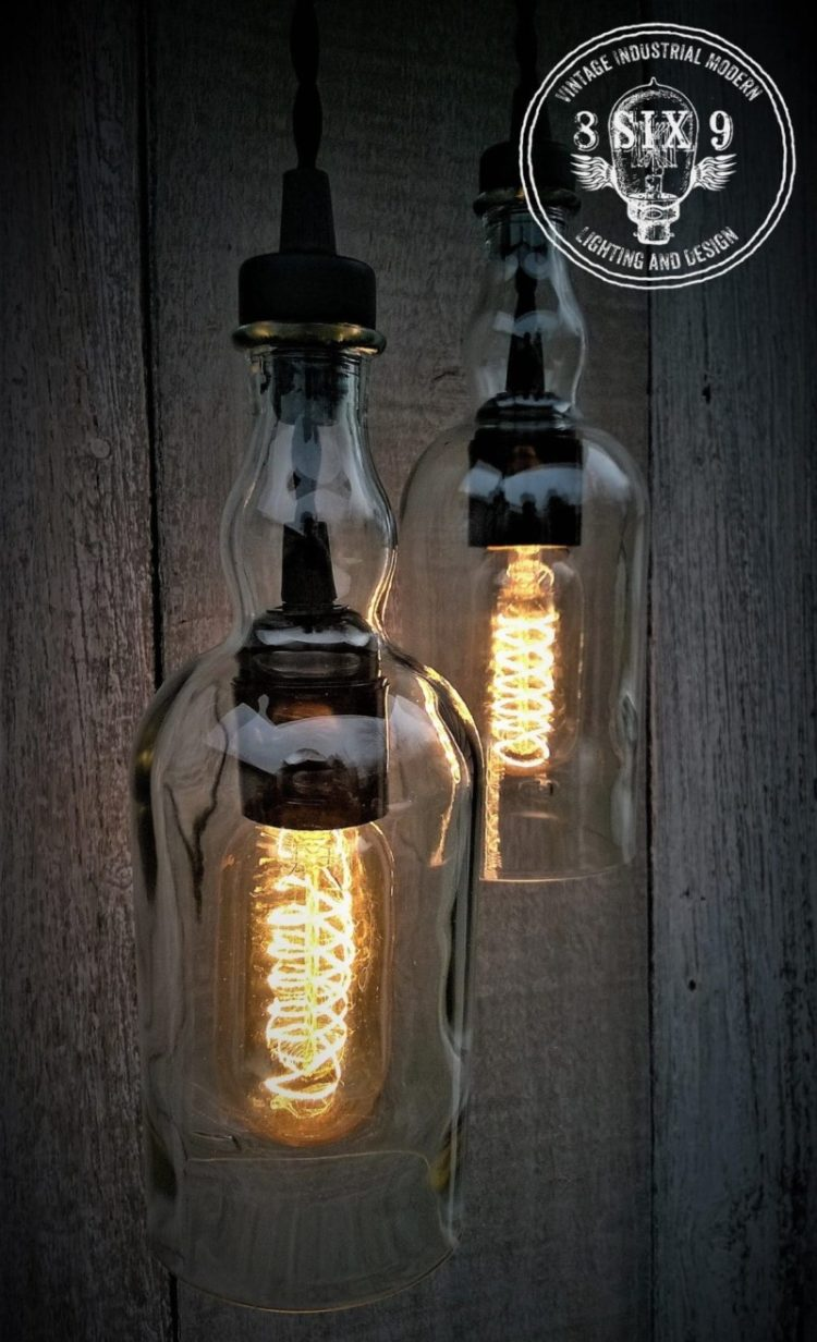 Balvenie Whiskey Bottle Pendant Light Black Series 4 - Pendant Lighting - iD Lights