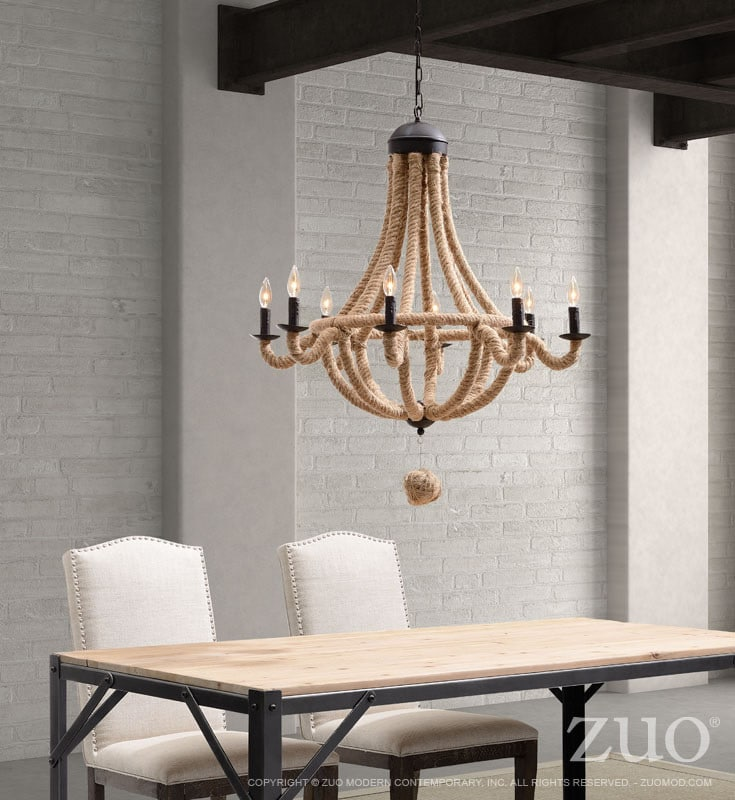 Celestine Natural Ropes Chandelier - chandeliers