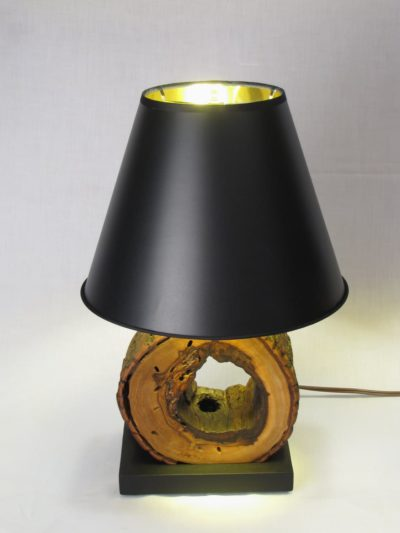 Hollow Log Nightstand Lamps