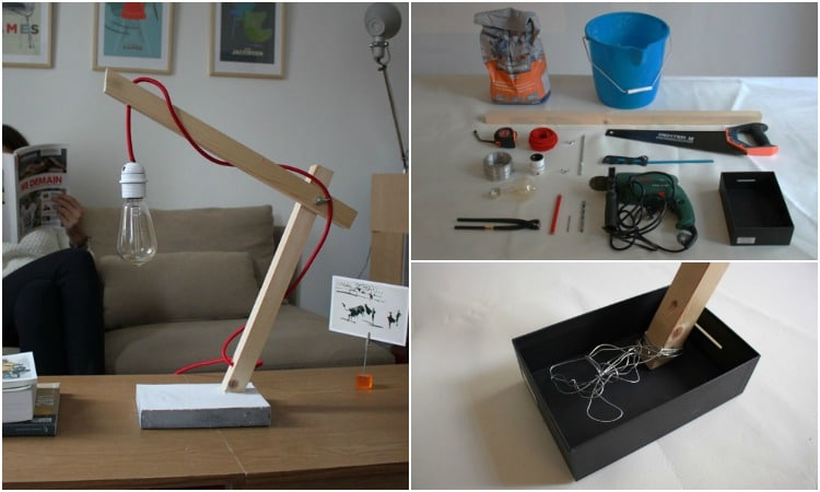 How to Make a Wood and Concrete Design Lamp