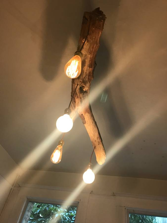 Unique Wood Lamp - chandeliers