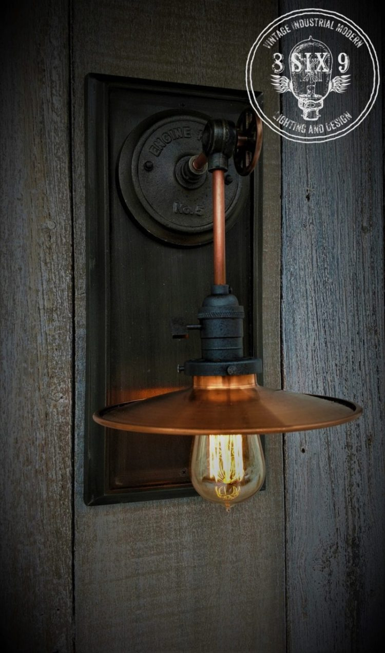 Industrial Copper Metal Shaded Wall Sconce 3 - Wall Lamps & Sconces - iD Lights