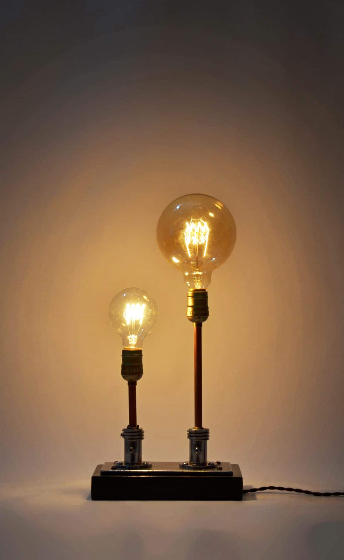 Steampunk Table Lamp Made From Vintage Medical Plugs Id