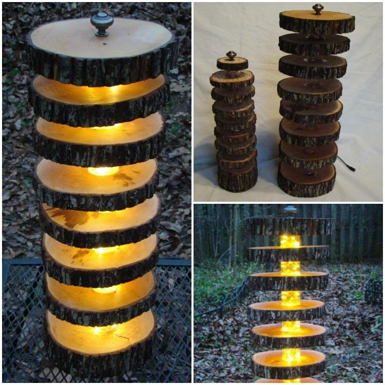 Handmade Tree Log Floor Lamp Id Lights