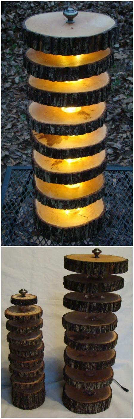 Handmade Tree Log Floor Lamp - floor-lamps