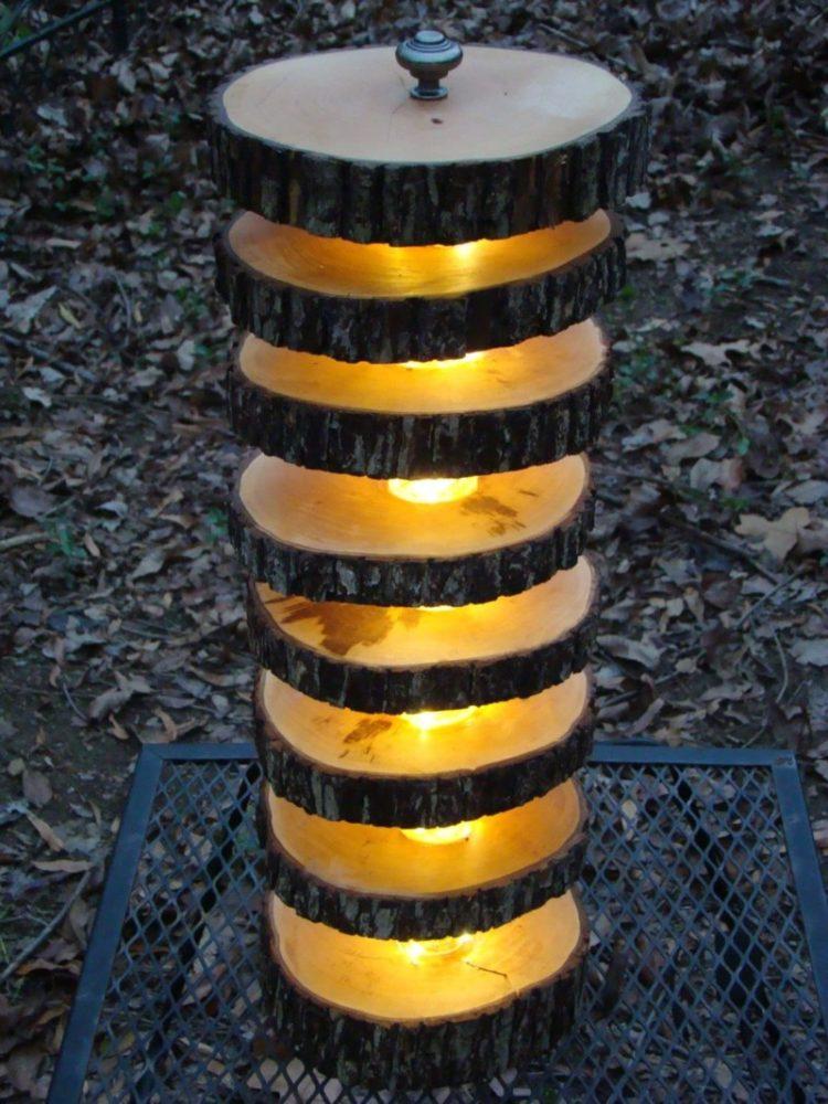 Handmade Tree Log Floor Lamp Floor Lamps
