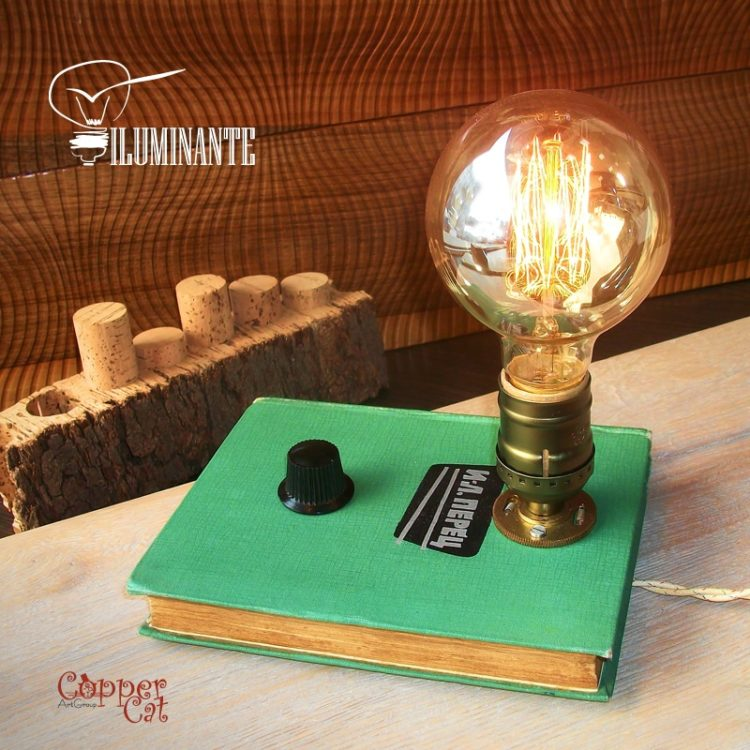 Retro Desk Lamp Edison Iluminante - wood-lamps, table-lamps