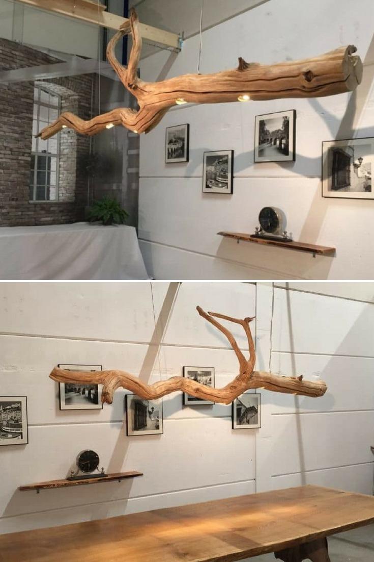 Old Oak Tree LED Ceiling Lamp