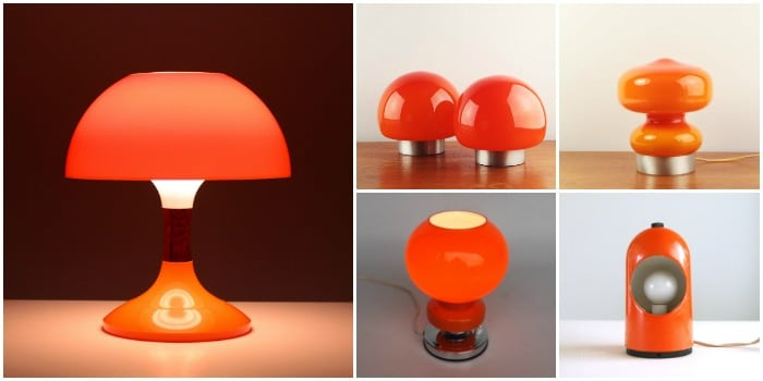 Orange table lamps selection id lights mozeypictures Image collections