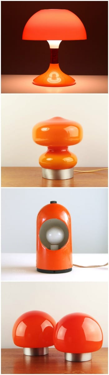Orange Table Lamps Selection - table-lamps