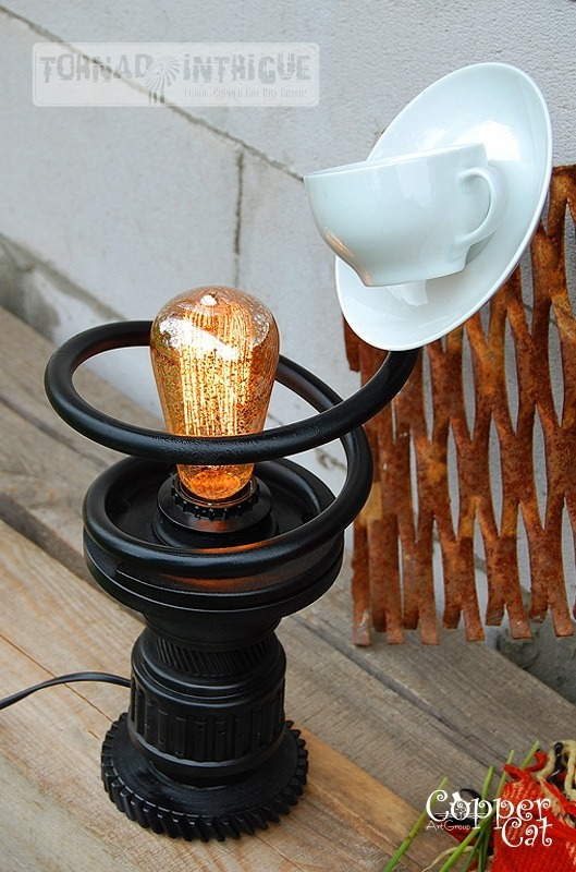 Cup of Tea Steampunk Table lamp - desk-lamps