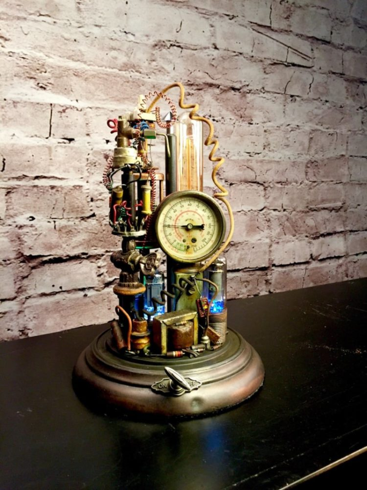 Steampunk Lamp Art Sculpture 5 - Table Lamps - iD Lights