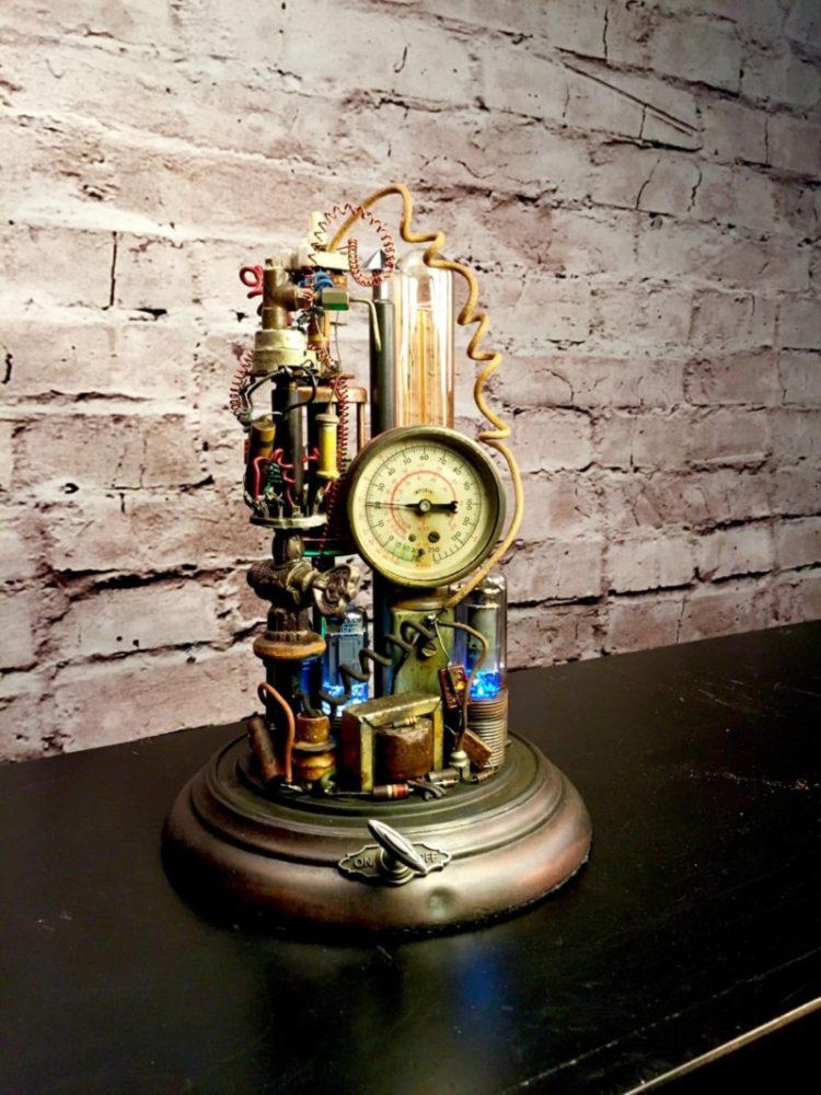 Steampunk Lamp Art Sculpture Id Lights
