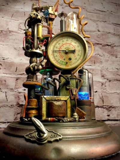 Steampunk Lamp Art Sculpture