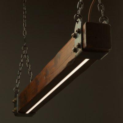 Wood Beam LED Pendant Light No1 - Little Anvil Main