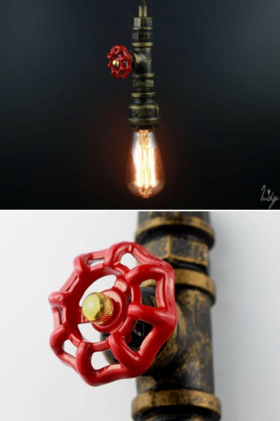 Old Fashioned Industrial Pipe Lamp