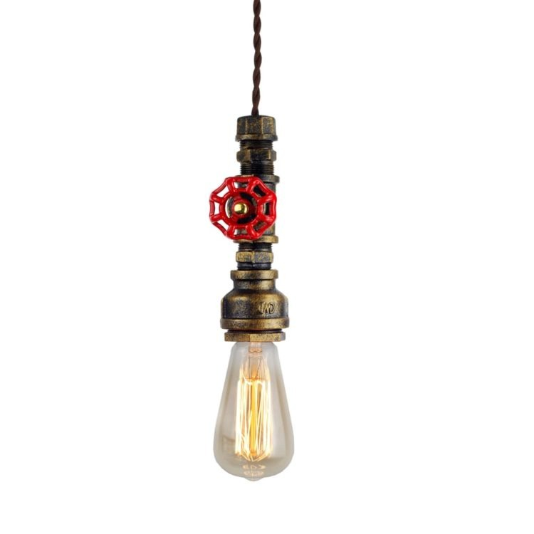 Old Fashioned Industrial Pipe Lamp - restaurant-bar, pendant-lighting