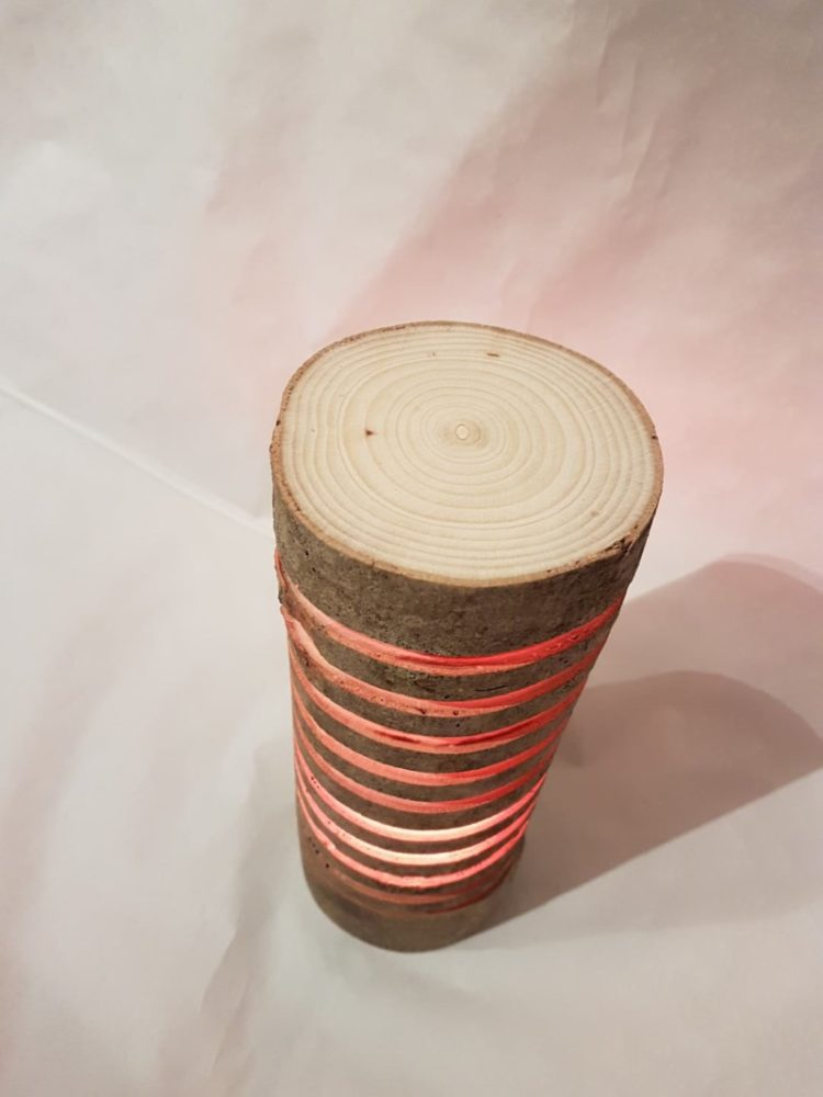 Colorful Wood Log Lamp