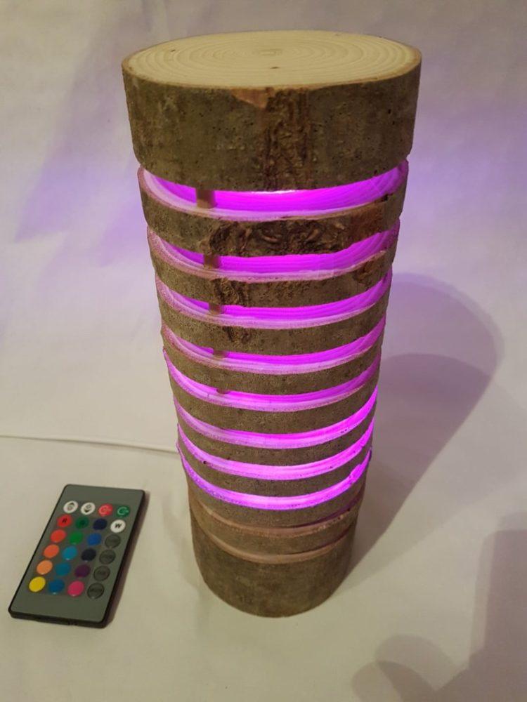 Colorful Wood Log Lamp - floor-lamps