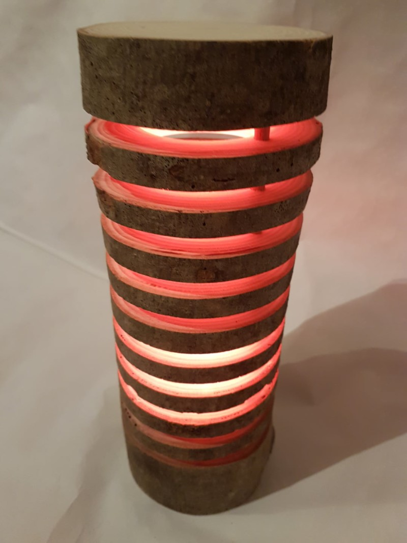 Colorful Wood Log Lamp Id Lights