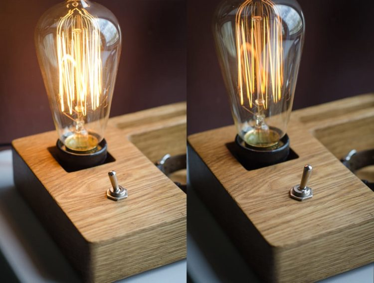 Docking Station with Edison Lamp - desk-lamps