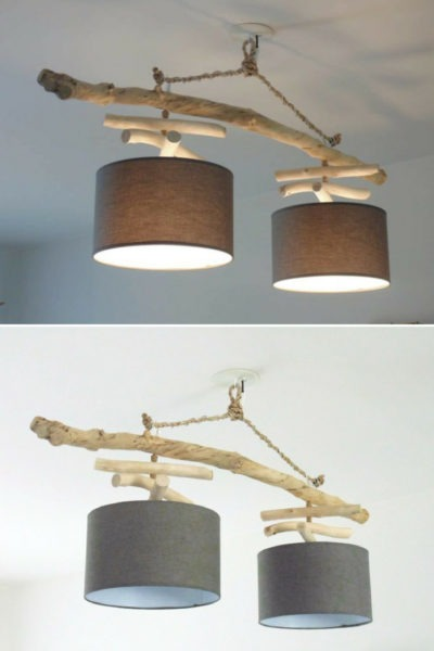 Double Driftwood Chandelier