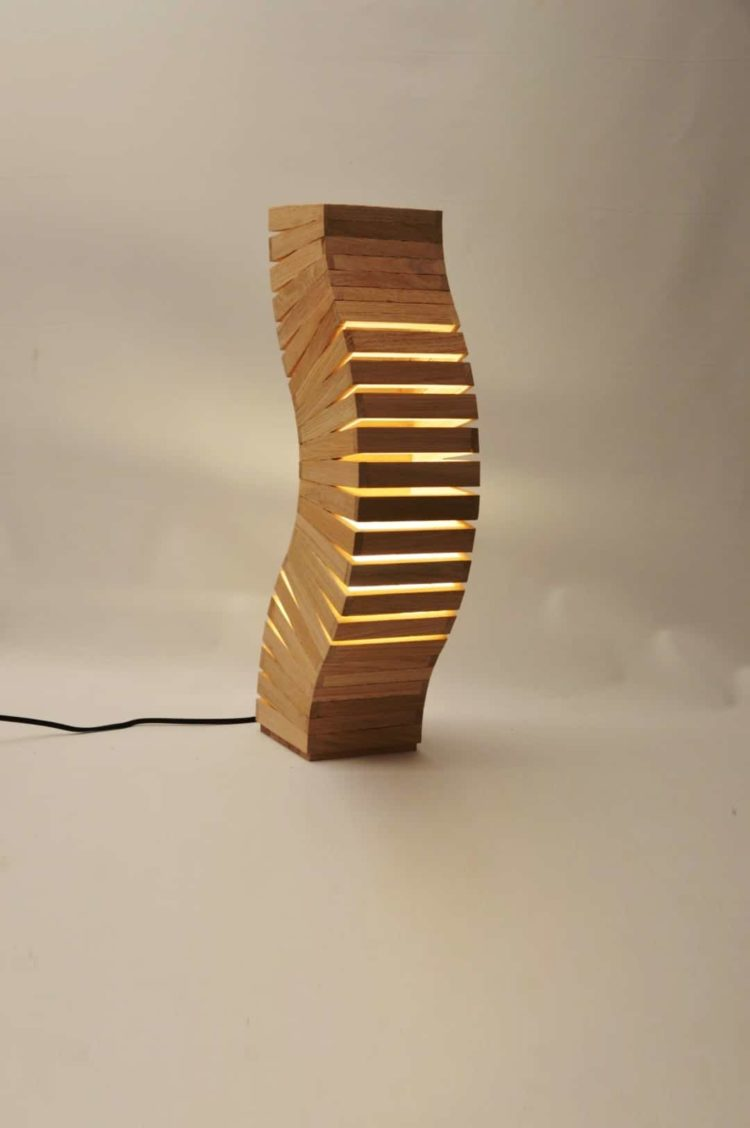 Oak Wood Spine Lamp Floor Lamps Wood Lamps