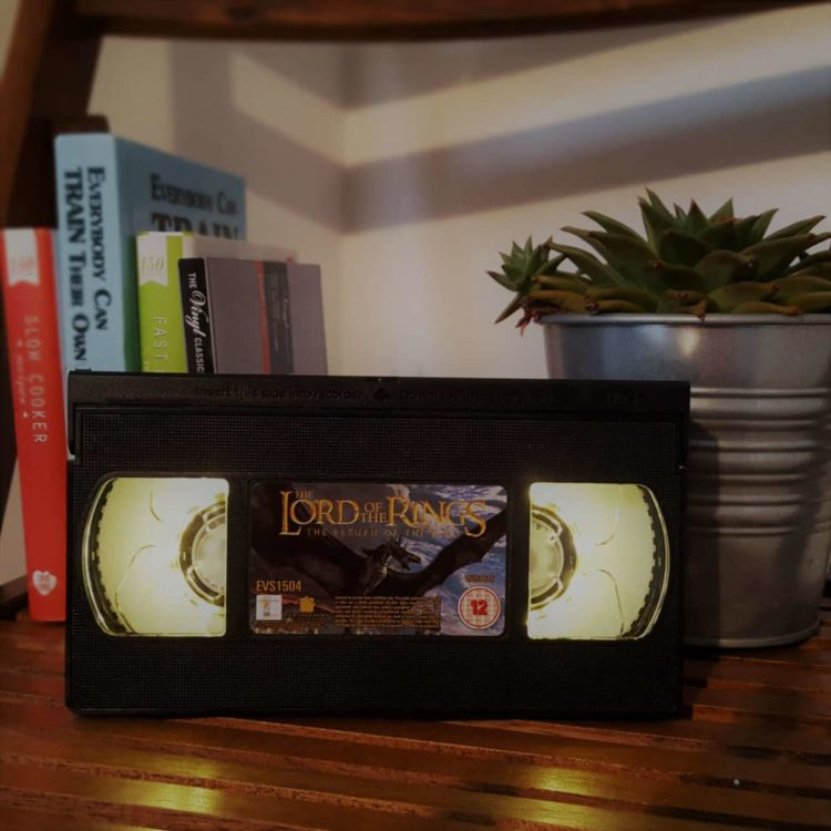 Retro VHS Alien Sci-Fi Night Light Table Lamp - table-lamps
