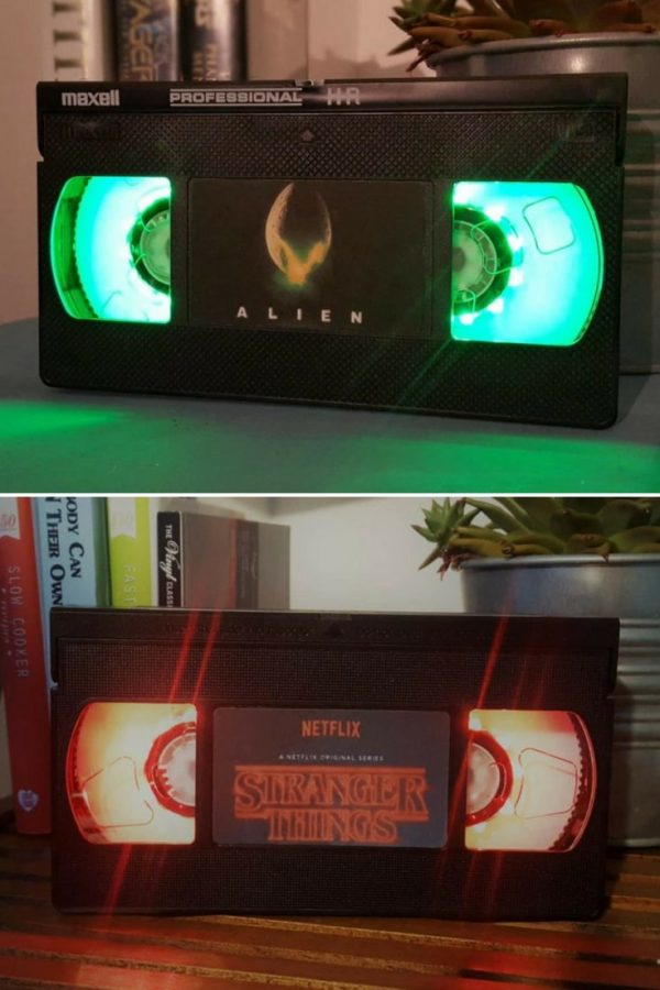 night light table rechargeable retro vhs alien scifi night light table lamp id lights