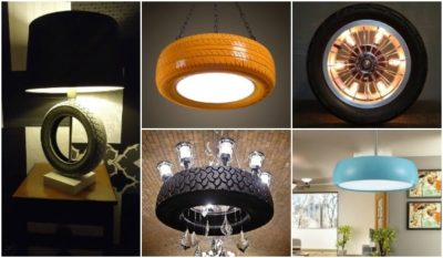 10 Amazing Lamps Selection from DIY Tire Projects