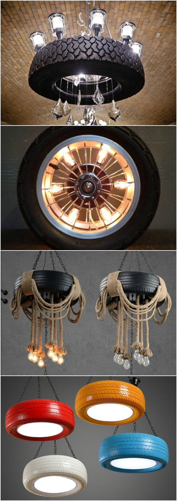 10 Amazing Lamps Selection from DIY Tire Projects - pendant-lighting