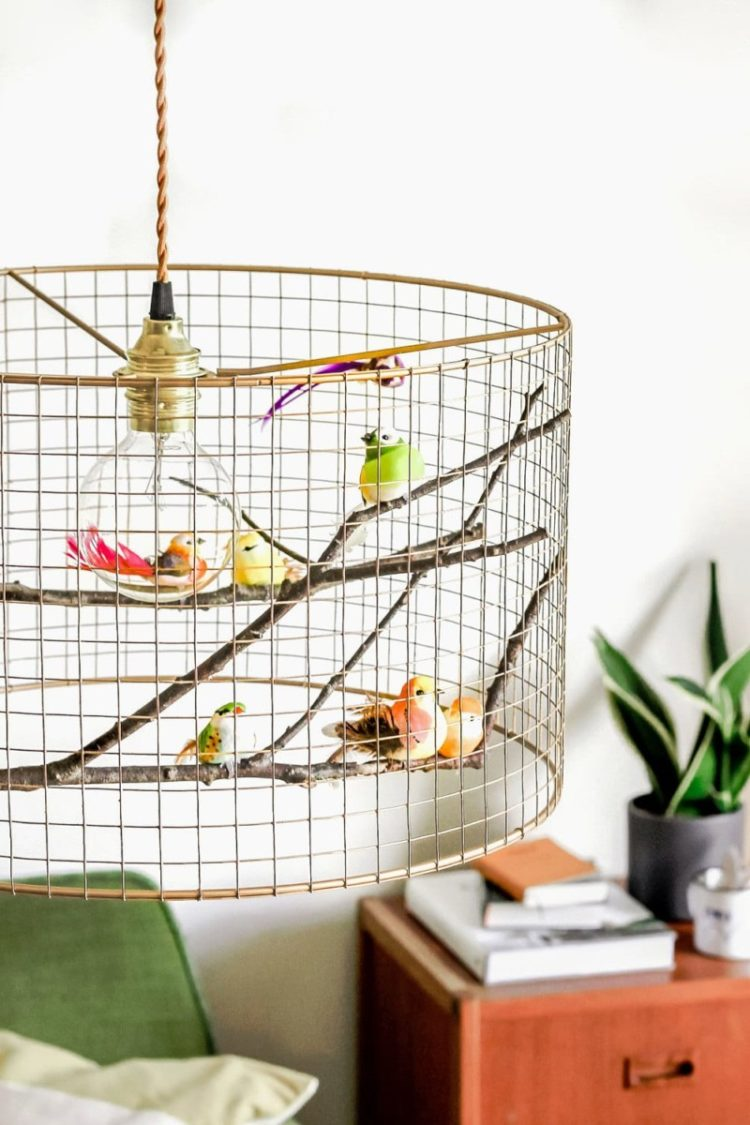 Copper Birdcage Pendant Light Chandelier - pendant-lighting