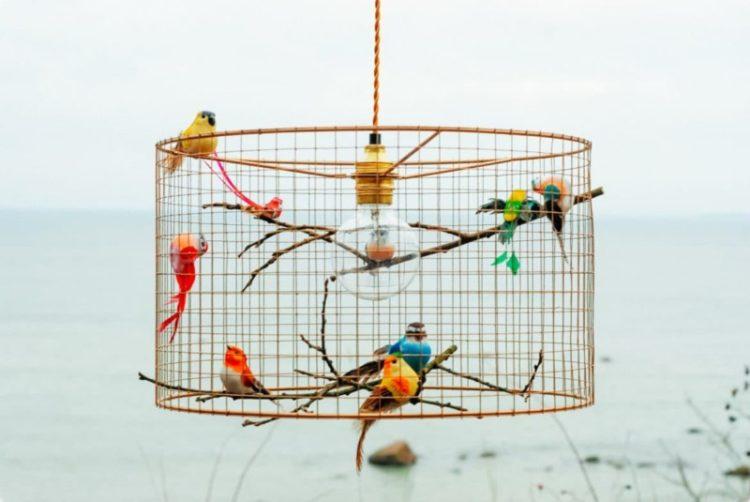 Copper Birdcage Pendant Light Chandelier Pendant Lighting