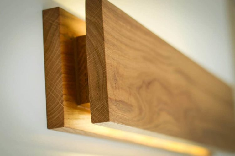 Handmade Oak Wooden Sconce Wall Lamps & Sconces