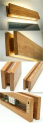 Handmade Oak Wooden Sconce