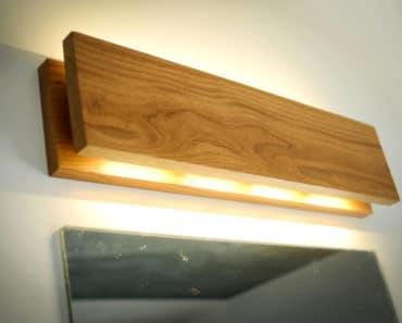 Handmade Oak Wooden Sconce